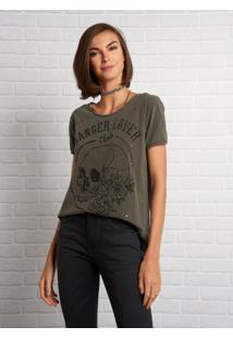 Camiseta John John Danger Lover Malha Cinza Feminina (Shirt Danger Lover, P)