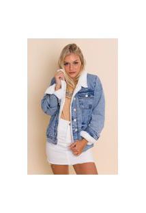 Jaqueta Jeans Forrada Betina