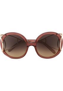df7e5293e5484 ... Chloé Eyewear Óculos De Sol Modelo  Jackson  - Pink ...