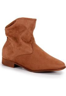 Ankle Boots Moleca Camurça - Caramelo