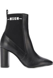 Msgm Ankle Boot - Preto