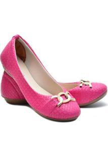 Sapatilha Ded Calçados Bico Redondo Feminina - Feminino-Pink