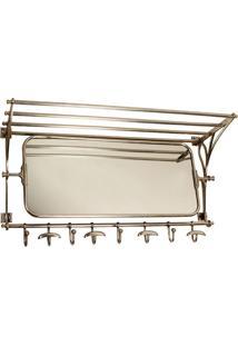 Espelho De Parede Moritzburg Com Porta Toalhas De Aço Inox