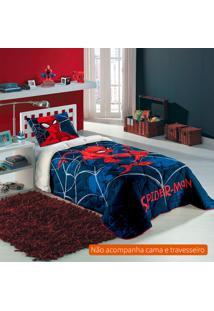 Jogo De Cama Infantil Com 3 Peças Spider Man Algodão Azul Marinho