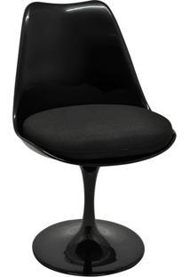 Cadeira Sem Braços E Almofada Saarinem -Rivatti - Preto