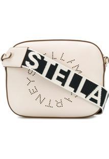 Stella Mccartney Bolsa Estruturada Stella Logo Mini - Branco