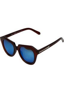 Óculos De Sol Polo London Club Fosco Marrom