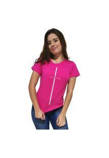 Camiseta Feminina Cellos Stripe Premium Rosa