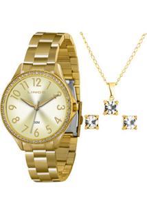 Kit Relógio Feminino Lince Lrg4283L1 K188C2Kx