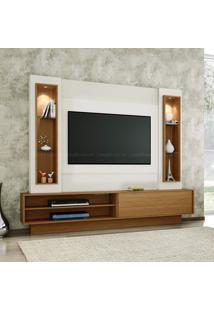 Estante Home Theater Para Tv Até 46 Polegadas 1 Porta De Correr 100% Mdf Tb129 Off White/Freijó - Dalla Costa