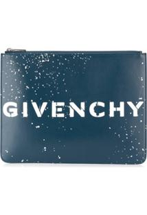 Givenchy Printed Logo Clutch Bag - Azul