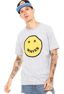 Camiseta Rusty No Waves Cinza