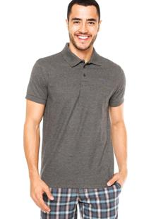 Camisa Polo Sommer Logo Cinza