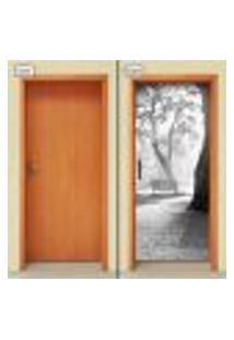 Adesivo Decorativo De Porta - Natureza - Paisagem - 1306Cnpt