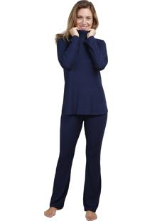 Conjunto Pijama Inspirate Azul Gola Alta