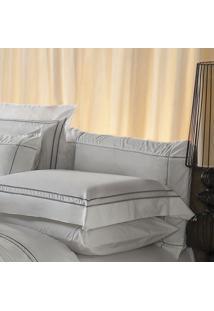 Fronha Harmonious Silver Algodão Branca 50X70