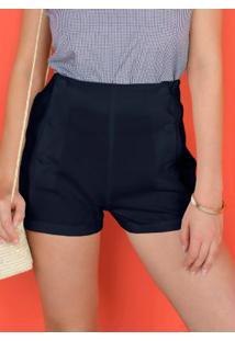 Shorts Azul Marinho Curto