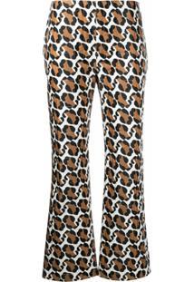 Fendi Calça Com Padronagem De Leopardo - Branco