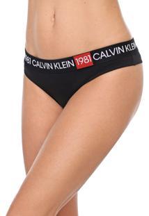 Calcinha Calvin Klein Underwear Tanga 1981 Preta