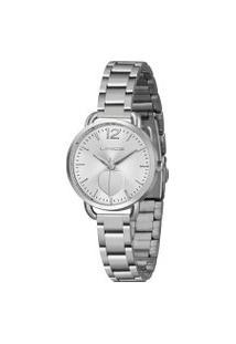 Kit Relógio Feminino Lince Lrmh120L-Kx10S2Sx Analógico 5Atm + Pulseira   Lince   Prata   U