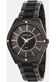 Relógio Feminino Seculus 77028Lpsvsf3 Analógico 5Atm