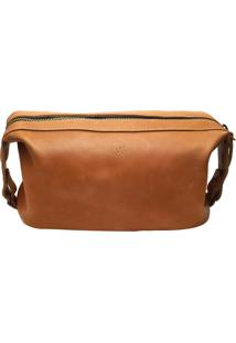 Necessaire Cutterman Co. Bufalo Cutterman Caramelo Incolor