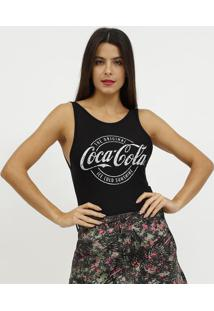 "Body ""The Original Coca-Colaâ®""- Preto & Branco- Cocacoca-Cola"