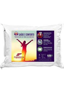 Travesseiro Saúde E Conforto Íons De Fibra Branco - Fibrasca