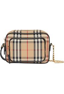 Burberry Vintage Check Cotton Camera Bag - Neutro
