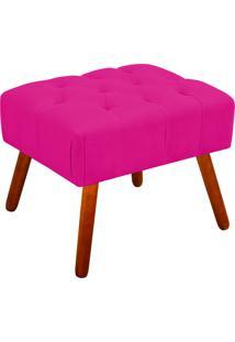 Puff Decorativo Anne Capitonê Suede Pink Pés Palito - D'Rossi