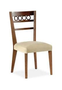 Cadeira Samara Sala De Jantar, Padrao - Imbúia Acetinado, Revestimento - I-38