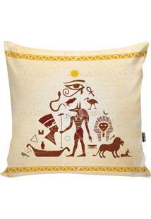 Capa De Almofada Egypt- Bege & Marrom- 42X42Cm- Stm Home