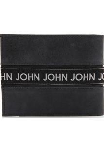 Carteira Couro John John Recortes Azul-Marinho