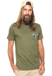 Camiseta Fiveblu Manga Curta The Hunter Verde