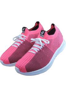 Tênis It Italeoni Malha Knit Rosa Pink