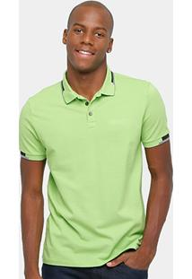 Camisa Polo Calvin Klein Friso Duplo Logo Relevo Masculina - Masculino