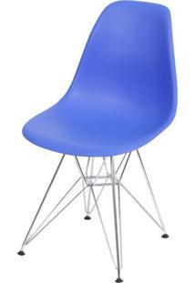 Cadeira Eames Polipropileno Azul Escuro Base Cromada - 40790 - Sun House