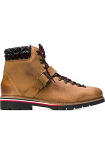 Tommy Hilfiger Ankle Boot De Couro - Marrom