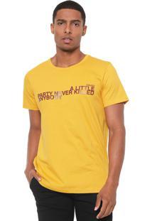 Camiseta Colcci Party Amarela