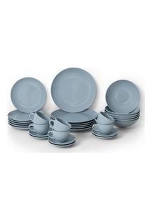 Aparelho De Jantar 30 Peças Soho Haus Concept Azul