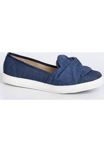 Sapatilha Feminina Slipper Jeans Moleca 5629206