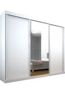 Guarda Roupa Olinda 3 Portas Com Espelho Branco