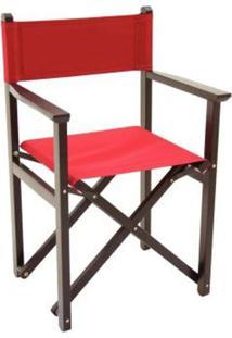 Cadeira Diretor Tabaco Vermelho - 12667084 - Tramontina Belem Moveis