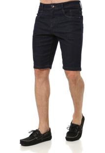 Bermuda Jeans Masculina Elétron Azul - Masculino