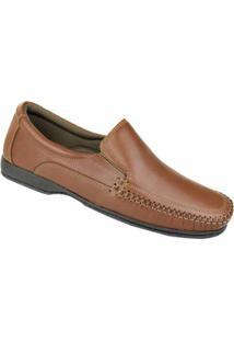 Sapato Conforto Couro Constantino Masculino - Masculino-Marrom