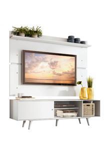 Rack Madesa Dubai E Painel Para Tv Atã© 65 Polegadas Com Pã©S - Branco Branco - Branco - Dafiti