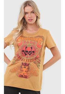 Camiseta Colcci The Sunshine Gang Bege