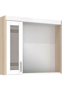 Espelheira Em Mdf Com Luminária Imola 67,5X60Cm Branca