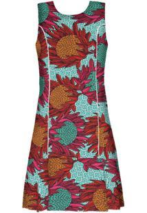 Vestido Estampado Com Babado Protea Color - Lez A Lez