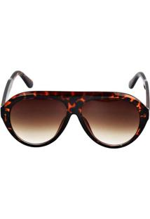 Óculos De Sol Berlim Marrom Estampado